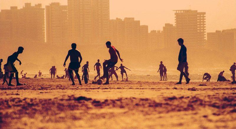 soccer, beach, football