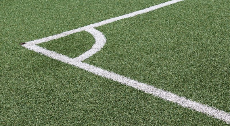 corner, soccer field, lines