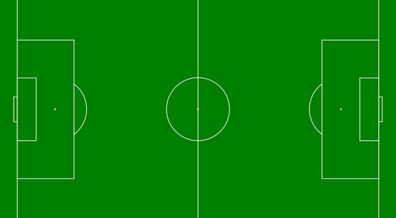 soccer field, diagram, green
